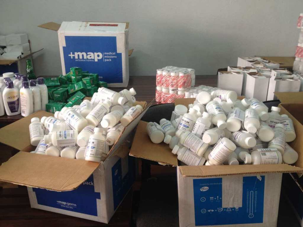 RMF-donated medicines and medical supplies