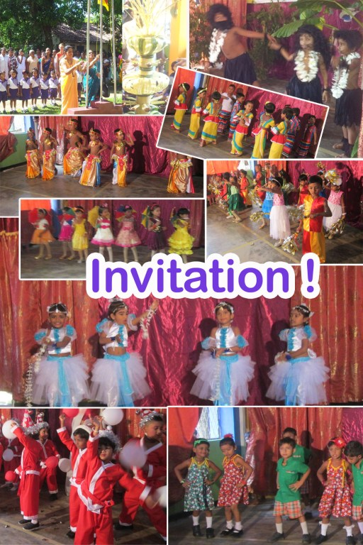 Children performing in Palathuduwa Preschool's year-end concert