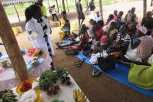 World Breastfeeding Week celebrations included cooking demonstrations and nutrition education by RMF's nutrition team.