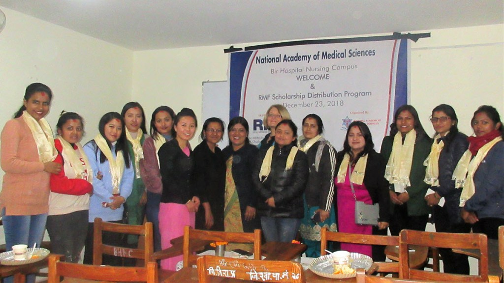 Newly enrolled 3rd intake of midwifery students with their mentors at NAMS