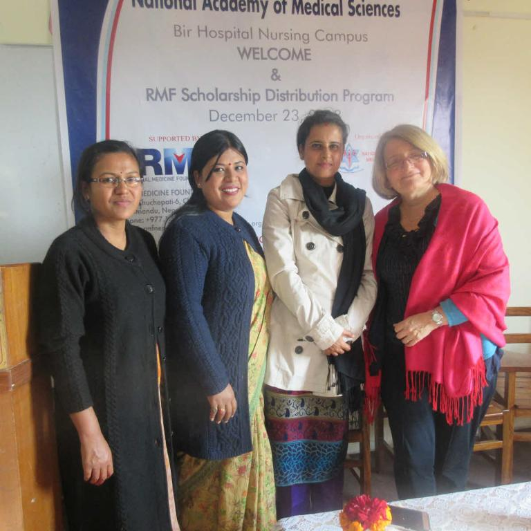 RMF Program Coordinator (second from right) with midwifery mentors at NAMS