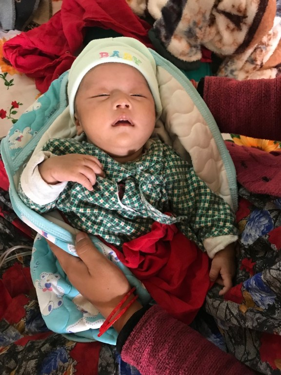 AS Nepal KCH Q2 2019 Srijana Lama's 2-day-old baby