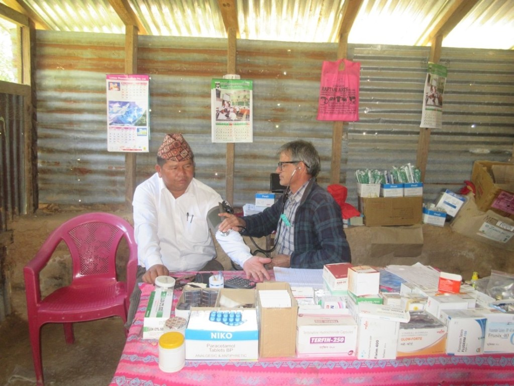 A teacher from a nearby school came to the RMF clinic to monitor his blood pressure