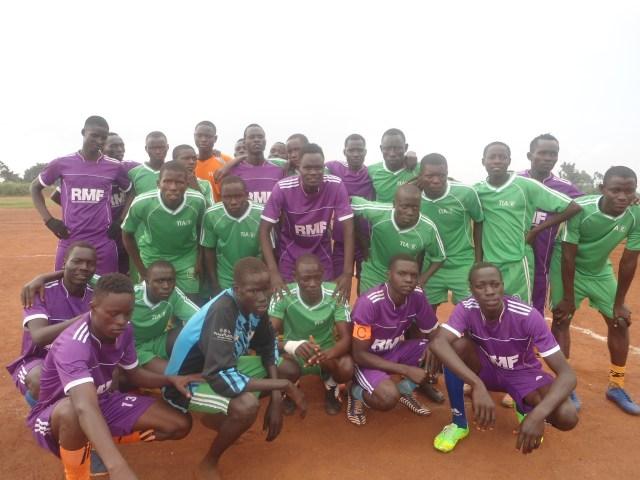 RMF soccer teams gathered together