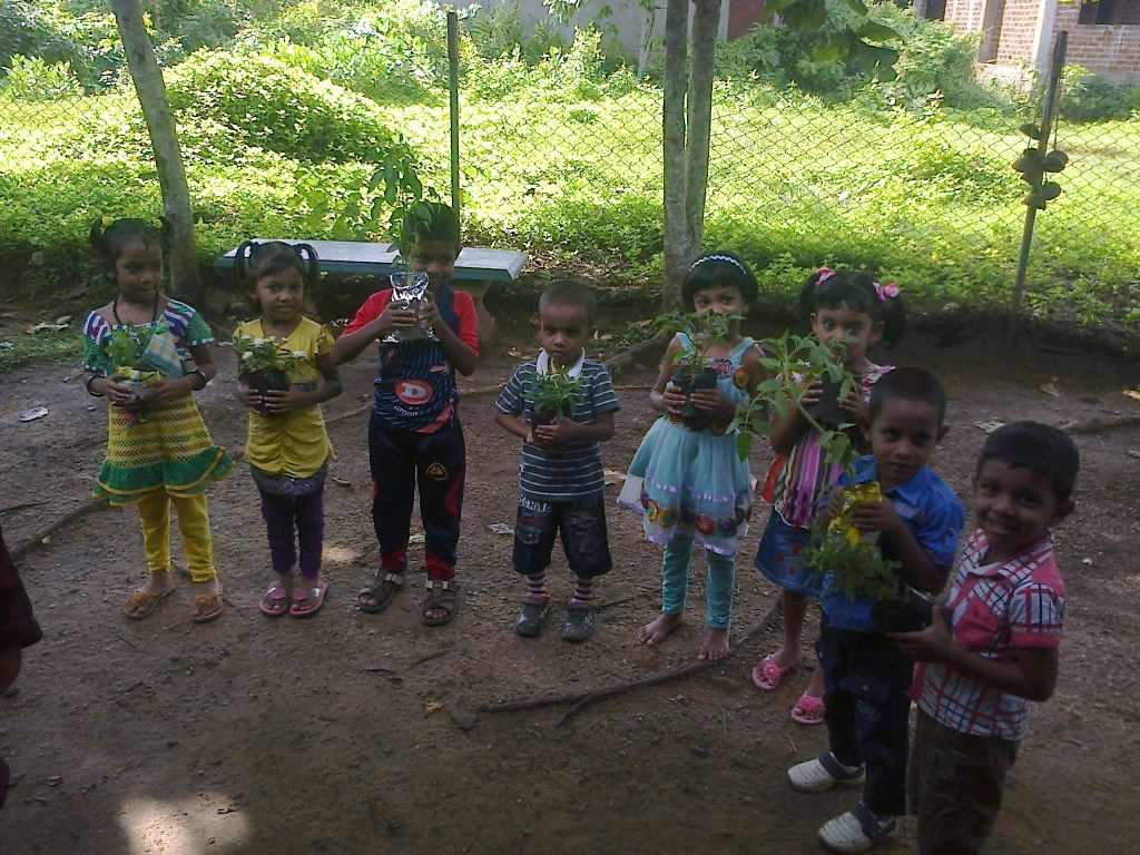 Children learn the joy of gardening