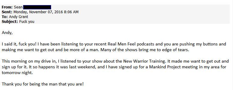 The sort of emails I get