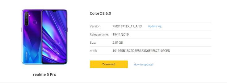 Realme 5 Pro November Security Patch Update Rolling Out   RMX1971EX_11_A.13   RealmeUpdates.Net