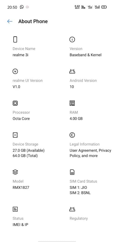 Realme 3i Realme UI Beta Update With Android 10 For Early Access User's [RMX1827EX_11_C.03] - Realmi Updates