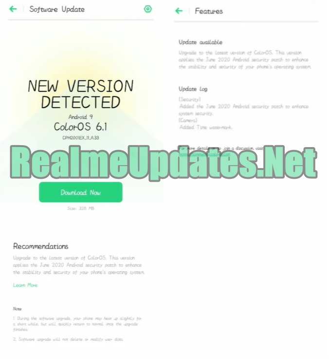 Oppo F15 A.33 June 2020 Security Patch Update Improves Security, Added Time Watermark & More [CPH2001_11_A.33] - Realmi Updates