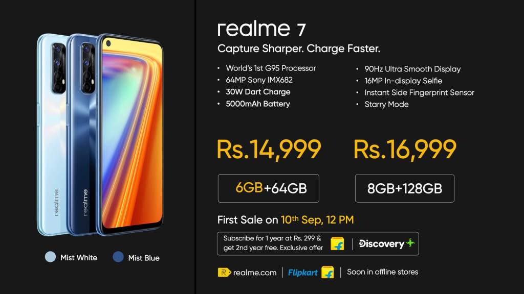 Realme 7 Launched: Specs, Price In India, Features, Availability & More - Realme Updates