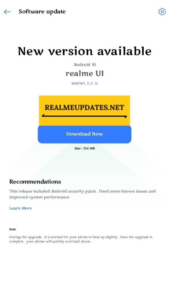 Realme 5 Pro May 2021 Security Update Screenshot - Realme Updates