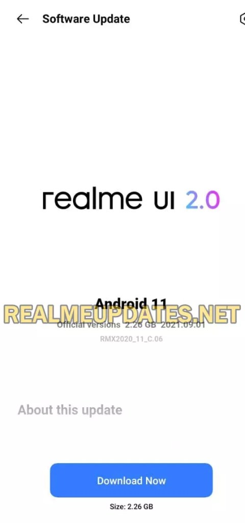 Realme Narzo 10A Android 11 Realme UI 2.0 Stable Update - Realme Updates