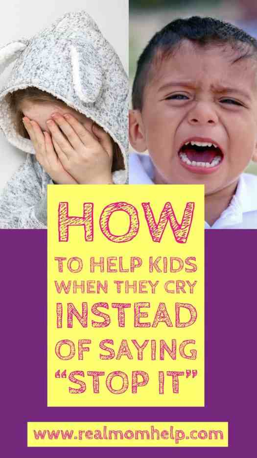 help kids when crying