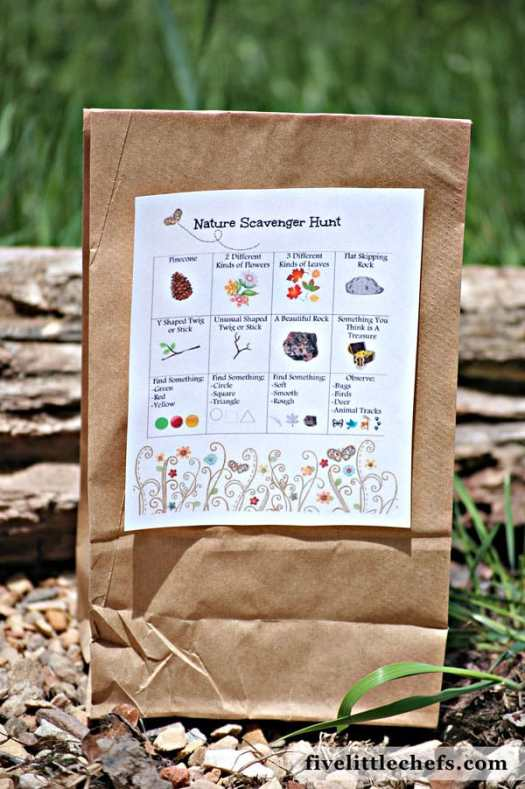 party games kids love, nature scavenger hunt