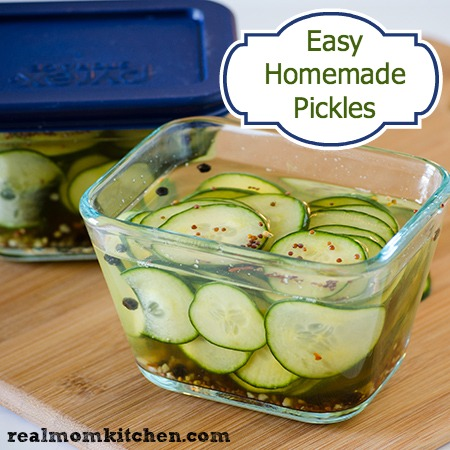 Easy Homemade Pickles l realmomkitchen.com