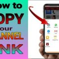 How to copy your channel link