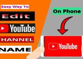 How to Edit YouTube name