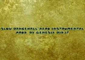 Slow dancehall afro art cover 2
