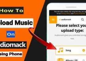 how to upload music on audiomack using phone.