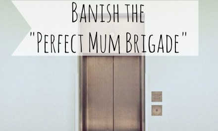 "Banish the ""Perfect Mum Brigade""."