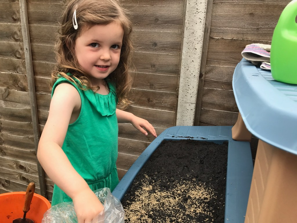 Little Tikes Go Green Playhouse living roof with grass seed