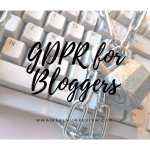 GDPR for Bloggers – Are you ready?
