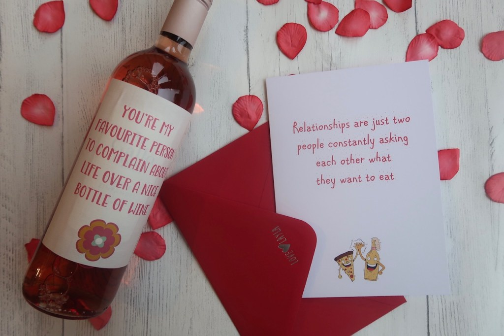 Love layla valentines cards and wine bottle sticker