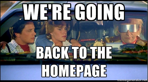 homepage back to the future