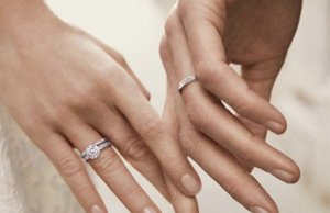 Обручальные кольца из белого золота SOVA