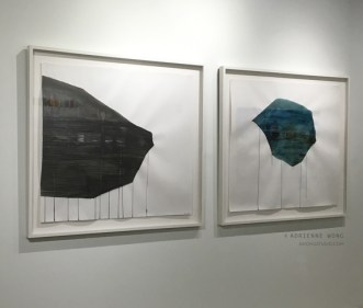 """Day To Night, 7803 Miles from Washington Ave to Mission Bay, charcoal and ink on paper, 53""""x49"""" each"""