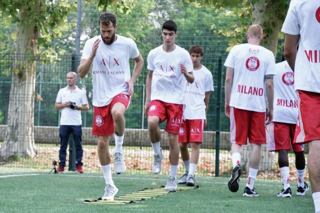 Olimpia Milano - Il primo allenamento