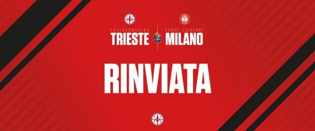 Olimpia Milano, la gara con Trieste si giocherà domenica al Palalido