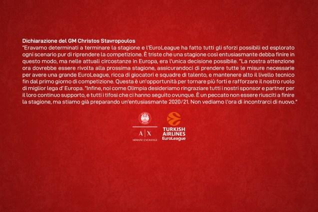 Christos Stavropoulos: Non vediamo l'ora di riabbracciare i nostri tifosi