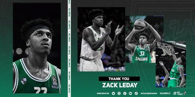 Ufficiale – Lo Zalgiris Kaunas annuncia l'addio di Zach LeDay