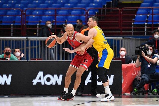 Olimpia Milano, 75% da 2 contro il Maccabi. E' il suo record in EuroLeague