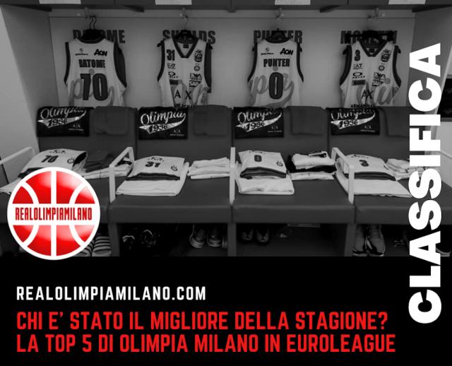 Top 5 EuroLeague | Chi è stato il miglior giocatore della stagione di Olimpia Milano?