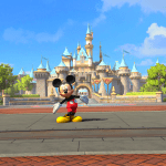 Mickey Mouse standing outside Disneyland