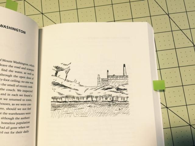 drawing accompanying Mount Washington
