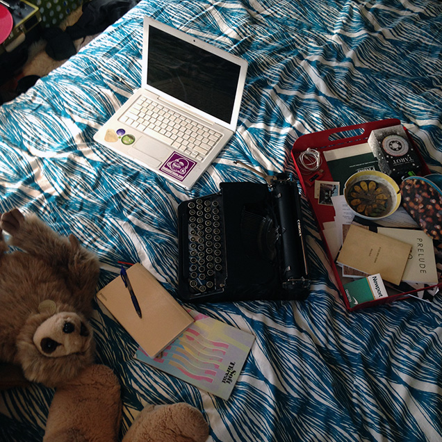 a picture of Emily O'Neill's desk