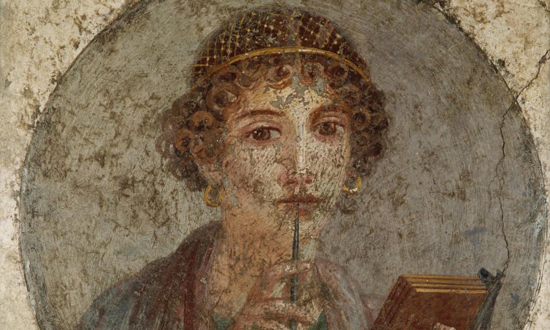 Sappho fresco painting Pompeii