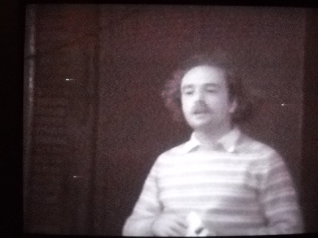 Jim Moore. Still shot from A Sampler of Minnesota Poets, Mike Hazard, 1975