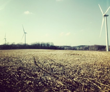 Wind turbines outside Buffalo