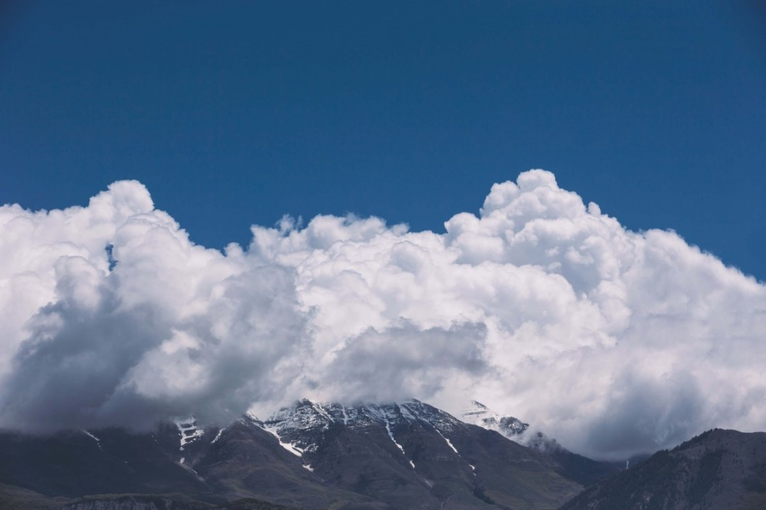 whipped mountain clouds