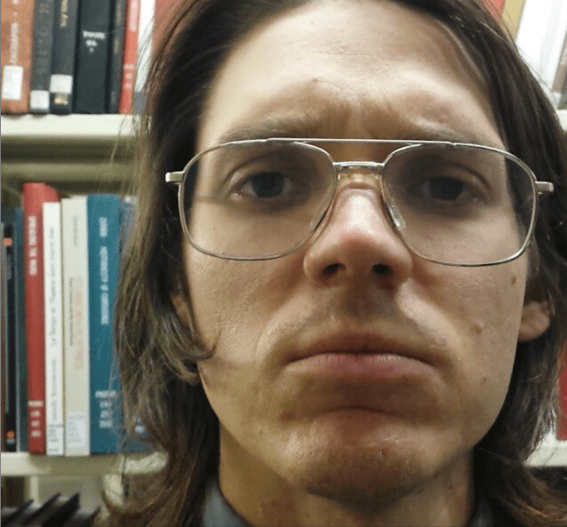 My name is Mark Baumer (@baumerworld). I live in #rhodeisland and I work in a #library. #hashtag #instagram