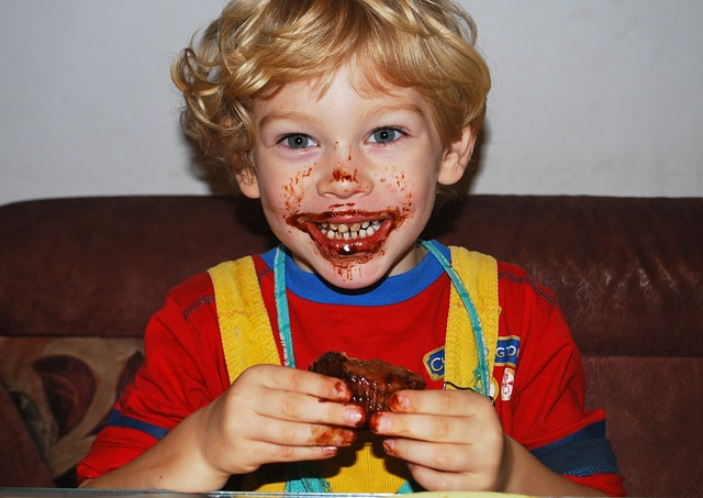 baby eating photo