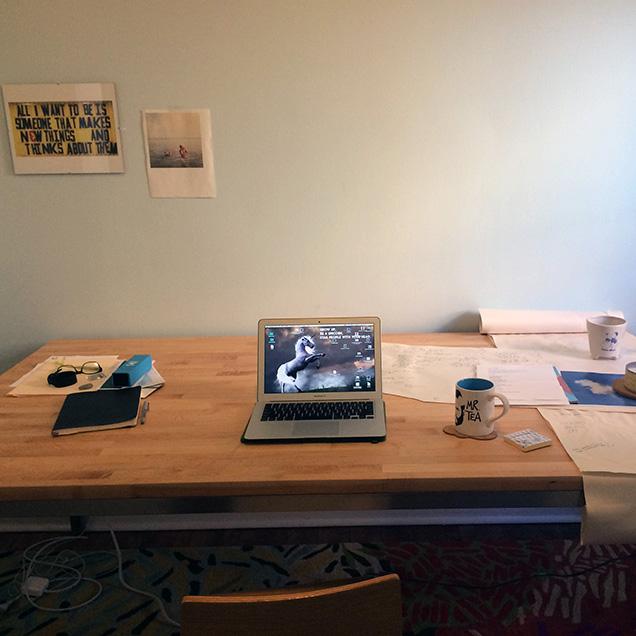 Megan Stielstra's desk