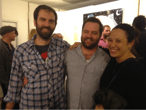 Former DC residents and fiction writers Mike Sheehan, Nate Brown, and Mary Woo at last year's Call + Response opening.
