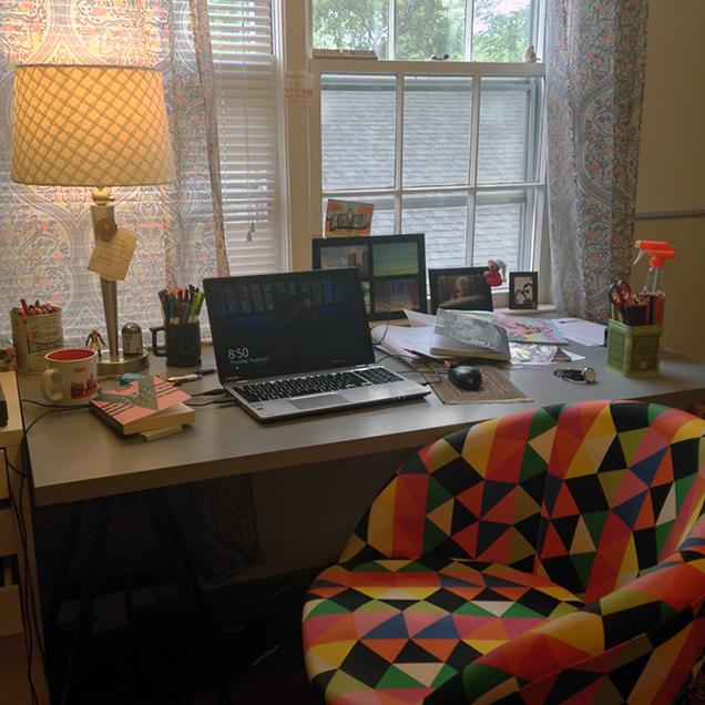 a photograph of the desk of author Rachel Richardson