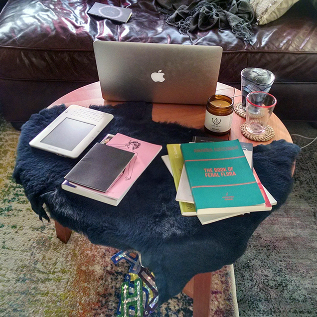 A photo of the desk of Sonya Vatomsky