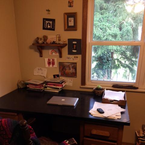a photograph of Jon-Michael Frank's desk